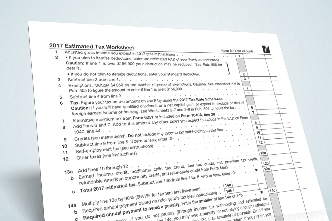Worksheets Estimated Tax Worksheet second quarter estimated taxes are due soon ellsworth soon